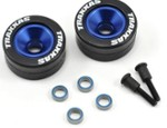 Blue Wheelie Bar Wheels and Rubber Tires (TRA5186A)